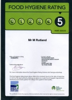 Food Hygiene Rating - Excellent - Scores on the Doors