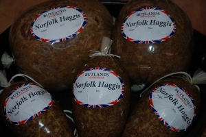Norfolk Haggis from M & M Rutland specialist Butchers, Melton Constable, Norfolk, UK