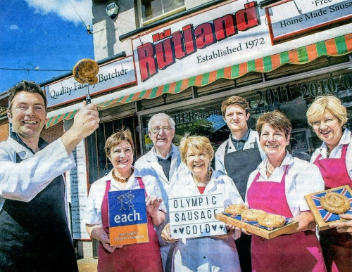 Rutlands Butchers Olympic sausage - contain 5 a day